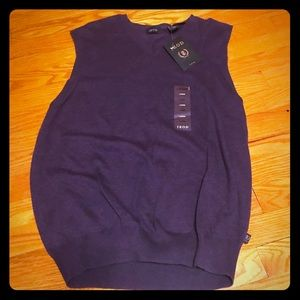 NWT IZOD Purple Sweater Vest